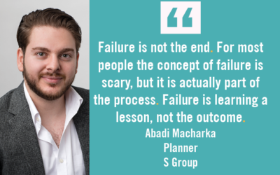 Failure is learning a lesson, not the outcome