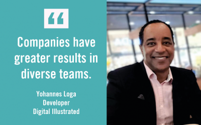 Companies have greater results in diverse teams